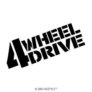 4WHEEL DRIVE カッティングステッカー 四駆 車 アクセサリー ステッカー 四駆女子 4WD オフロード クロカン クロスカントリー agstyle
