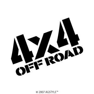 4x4 OFF ROAD カッティングステッカー 四駆 車 アクセサリー ステッカー 四駆女子 4WD オフロード クロカン クロスカントリー agstyle