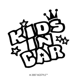 KIDS IN CAR カッティングステッカー POP JDM USDM STANCE US HDM D1 王冠 キッズ スラムド スタンス オリジナル 北米 可愛い|agstyle