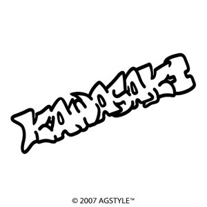 KAWASAKI イラスト風 カッティングステッカー 車 JDM USDM HDM STANCE US オリジナル デザイン スタンス ネーム カワサキ 川崎 バイク agstyle