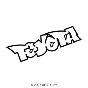 TOYOTA イラスト風 カッティングステッカー 車 JDM USDM HDM STANCE US オリジナル デザイン スタンス ネーム トヨタ 豊田 agstyle