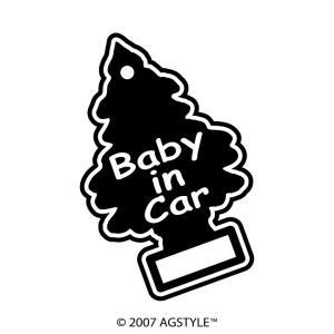 Tree Baby in car カッティングステッカー オリジナル 車 ベイビー カーアクセサリー クリスマス ミニツリー 雪 ツリー ベイビーインカー BABY agstyle