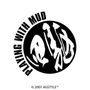四駆 PLATING WITH MUD サークル カッティングステッカー 車 USDM HDM STANCE US オリジナル デザイン 漢字 4WD agstyle