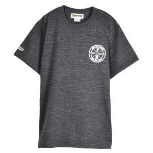 FUNNY BEAR Tシャツ ローマ数字 デザイン ヘザーブラック ユニセックス 半袖 ストリート カジュアル コーデ お洒落 スニーカーコーデ キャップコーデ|agstyle