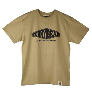 FUNNY BEAR  Wall Tシャツ サンドカーキ ユニセックス 半袖 ストリート カジュアル コーデ お洒落 スニーカーコーデ キャップコーデ バックプリント|agstyle