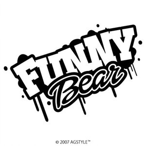 FUNNY BEAR ファースト デザイン カッティングステッカー 車 オリジナル|agstyle