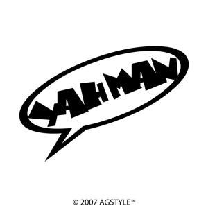 YAH MAN カッティングステッカー ステッカー メッセージ サーフ スノボ 波 雪 車 JDM USDM US スケボー オリジナル デザイン 吹き出し 挨拶|agstyle