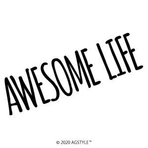 AWESOME LIFE カッティングステッカー 車 JDM USDM HDM STANCE US オリジナル デザイン オーサムライフ GT 北米 ステッカー メッセージ|agstyle