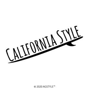 SURF Ver. CALIFORNIA STYLE オリジナル カッティングステッカー カリフォルニア ステッカー 西海岸 LA サーフボード カリフォルニアスタイル お洒落 可愛い|agstyle
