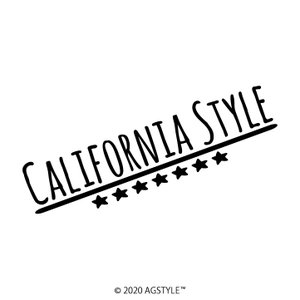 STAR Ver. CALIFORNIA STYLE オリジナル カッティングステッカー カリフォルニア ステッカー LA ロングビーチ 世田谷 カリフォルニアスタイル お洒落 可愛い|agstyle