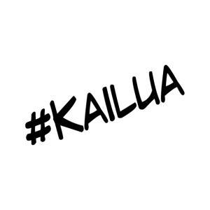 ハッシュタグシリーズ #KAILUA オリジナル カッティングステッカー|agstyle
