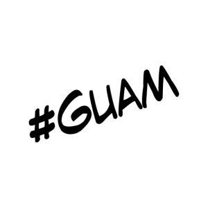 ハッシュタグシリーズ #GUAM オリジナル カッティングステッカー|agstyle
