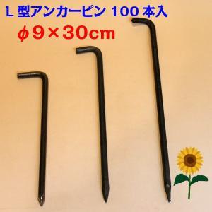 L型アンカーピン φ9×30cm 100本入り 鉄製|aguila