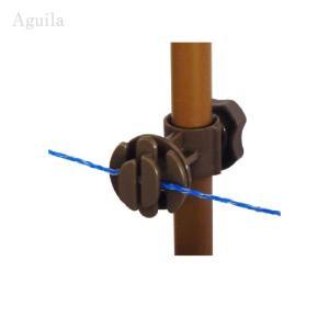 タイガー 樹脂ガイシ G25 25mm径支柱専用ガイシ 電気柵用・イノシシ対策 aguila