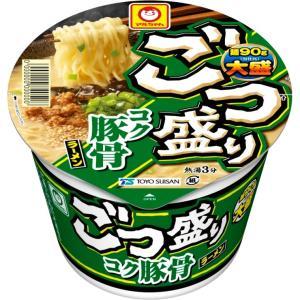 まろやかでコクのある豚骨スープに、キクラゲ・鶏挽肉・ごま・ねぎが入った大盛豚骨ラーメン。