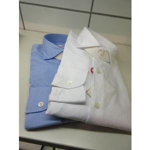 Glanshirt (グランシャツ) JWEEN ピンオックスワイドカラー シャツ G6804 COTTON|ah1982
