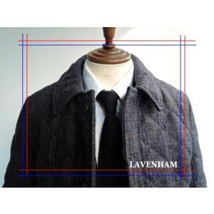 LAVENHAM (ラヴェンハム) メンズ キルティングコート 2015 AW NEW MODEL 【新作 】 EUSTON (ユーストン) NAVY WINDOWPANE×GLENCHECK|ah1982