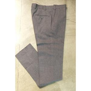 BERNARD ZINS ベルナールザンス BZV3 /Trousers コットン ノープリーツパンツ|ah1982