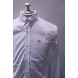 MAISON KITSUNE メゾンキツネ POPLIN CLASSIC SHIRT BD ポプリンブロード ボタンダウンシャツ *WHITE|ah1982