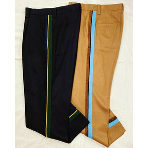 COOHEM (コーヘン) 20-204-012 KNIT SIDELINE PANTS *NAVY *CAMEL / ニットサイドラインパンツ *ネイビー *キャメル|ah1982