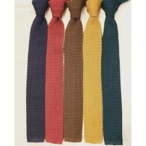 ドレイクス (Drake's) SC01KN PLAIN Silk Knit Tie / シルクニットタイ・ドイツ製|ah1982