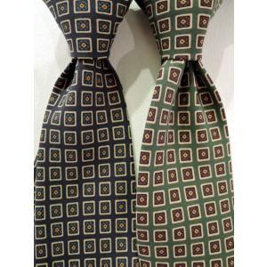ドレイクス (Drake's)【新作】「Diamond Print Silk Tie」 小紋柄プリントシルクタイ 【NAVY,GREEN】|ah1982