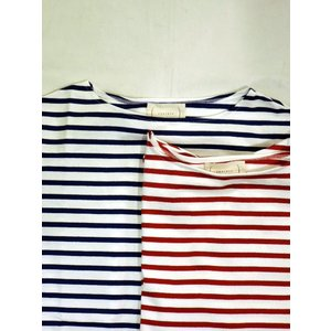 cantate (カンタータ) 18SSCA098 Horizontal Stripe Shirt WHITE×BLUE、WHITE×RED|ah1982