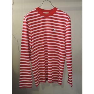 MAISON KITSUNE メゾンキツネ L/S MARIN TEE-SHIRT TRICOLOR 長袖 マリンTシャツ RED×WHITE|ah1982|02