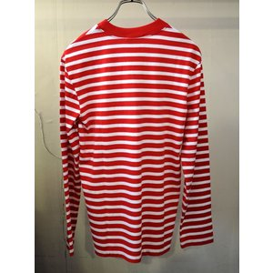 MAISON KITSUNE メゾンキツネ L/S MARIN TEE-SHIRT TRICOLOR 長袖 マリンTシャツ RED×WHITE|ah1982|03