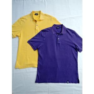 Drumohr ドルモア DTS612 半袖 ストーンウォッシュ 鹿の子ポロシャツ|ah1982