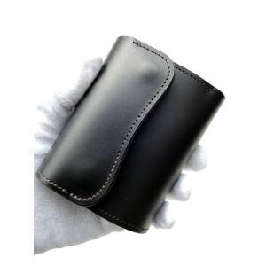 LAST CROPS (ラストクロップス) COLT 三つ折り財布 MAREMMA (マレンマ) BLACK|ah1982