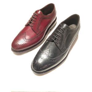 JALAN SRIWIJAYA ( ジャランスリワヤ) 98652 Wingtip Shoes *BLACK & BORDO CALF ウィングチップ|ah1982