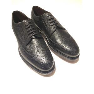JALAN SRIWIJAYA ( ジャランスリワヤ) 98652 BLACK GRAIN Wingtip Shoes  ウィングチップ グレインレザー|ah1982
