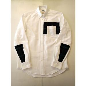 COOHEM (コーヘン) 20-183-010 TARTAN CHECK TWEED SHIRT WHITE|ah1982