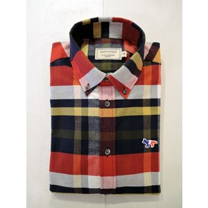 MAISON KITSUNE メゾンキツネ TARTAN CLASSIC BD SHIRT タータンチェックBDシャツ|ah1982