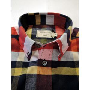 MAISON KITSUNE メゾンキツネ TARTAN CLASSIC BD SHIRT タータンチェックBDシャツ ah1982 05