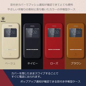iPhone7 ケース 手帳型 窓付き iPhone6 Plus iPhoneSE/5/5s GALAXY 閉じたまま操作できる スマホケース ahhzee