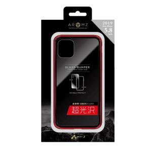 iPhone11 Pro ガラス バンパーケース ハードカバー バックカバー シンプル かっこいい ...
