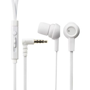 エレコム ステレオイヤホン スマートフォン iPhone φ3.5mm4極ミニジャック マイク付 ヘッドホン 音楽 通話 ホワイト EHP-CS3520MWH|ai-en