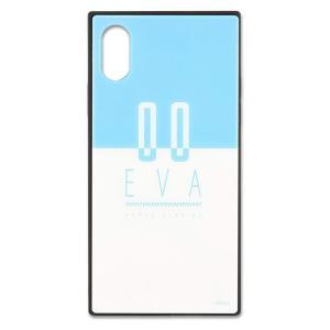 エヴァンゲリオン iPhoneXS iPhoneX 耐衝撃ケース 零号機 ハイブリッド スクエアガラスケース グルマンディーズ EV-142B|ai-en