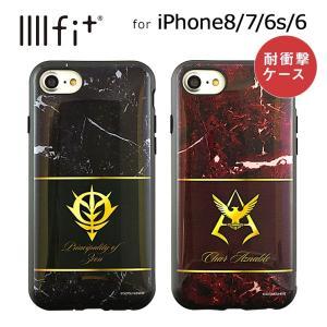 機動戦士ガンダム iPhone8 iPhone7 iPhone6s iPhone6 耐衝撃ケース ジオン/シャア・エンブレム IIIIfit グルマンディーズ GD-99|ai-en