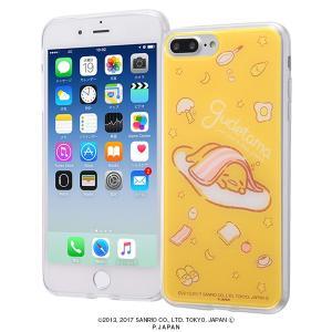 サンリオ iPhone8Plus/7Plus ハイブリッドケース ぐでたま3 耐衝撃 TPUソフト素材 カバー クリア キャラ グッズ イングレム IJ-SRP7PTP-GU003|ai-en