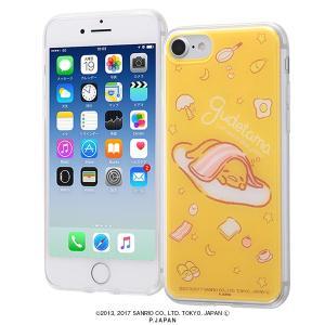サンリオ iPhone8/7 ハイブリッドケース ぐでたま3 耐衝撃 TPUソフト素材 カバー クリア キャラ グッズ イングレム IJ-SRP7TP-GU003|ai-en