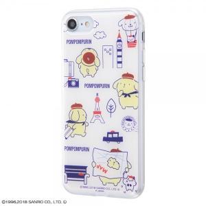 サンリオ iPhone8/7 ハイブリッドケース ポムポムプリン/おでかけ2 耐衝撃 TPUソフト素...