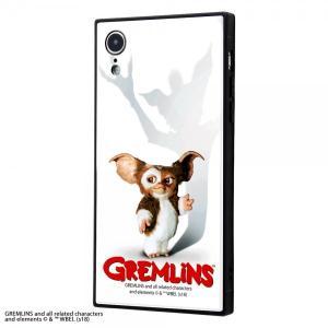 グレムリン iPhoneXR グレムリン 耐衝撃ガラスケース KAKU GREMLINS 9H IQ...