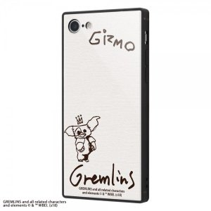 グレムリン iPhone8/7 耐衝撃ガラスケース KAKU ギズモ モグワイ 9H 強化ガラス か...