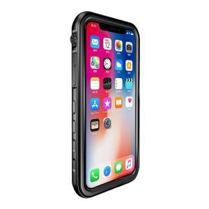 iPhone XR 耐衝撃ケース ブラック 防水ケース 防塵 耐衝撃 防水 防塵 IP68 SLIM...