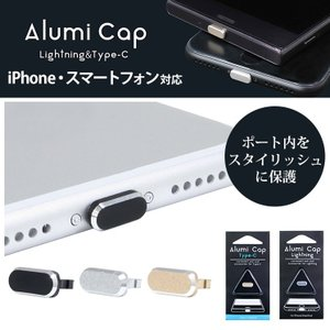 Lightning Type-Cポート 端子保護 キャップ iPhone iPod iPad スマー...