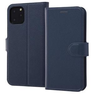iPhone11 Pro 手帳型ケース マグネット 通話口付 カードポケット付 収納ポケット付 ストラップホール付 ダークネイビー RT-P23ELC1-DN ai-en