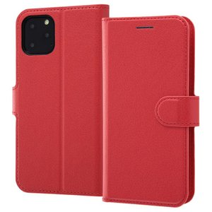 iPhone11 Pro 手帳型ケース マグネット 通話口付 カードポケット付 収納ポケット付 ストラップホール付 レッド RT-P23ELC1-R ai-en